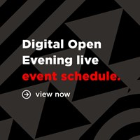 Digital open evening live event schedule square png